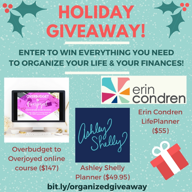 My girl Jia from @marriagemotherhood and I are doing a Christmas giveaway!! 🎁👏🏻 The bundle includes an Erin Condren LifePlanner, Ashley Shelly Planner, & Jia's brand new Overbudget to Overjoyed Online Course Bundle.  ENTER TO WIN THE TOOLS YOU NEED TO ORGANIZE YOUR FINANCES AND YOUR LIFE - A bundle worth over $250!! Giveaway ends December 28th so hurry! Just head on over here to enter👉🏻 allisonlindstrom.com/giveaway