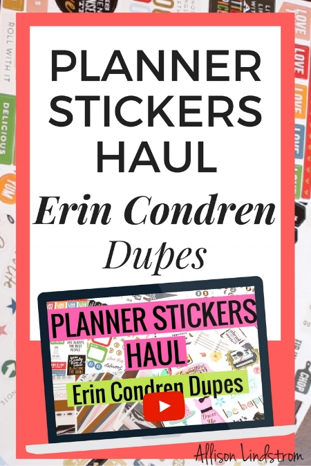 While I love the Erin Condren LifePlanner, I was a little disappointed with their stickers. But I found some great planner stickers at Michaels so I'm excited to share this haul of Erin Condren dupes, as well as tips on what NOT to buy at Erin Condren!