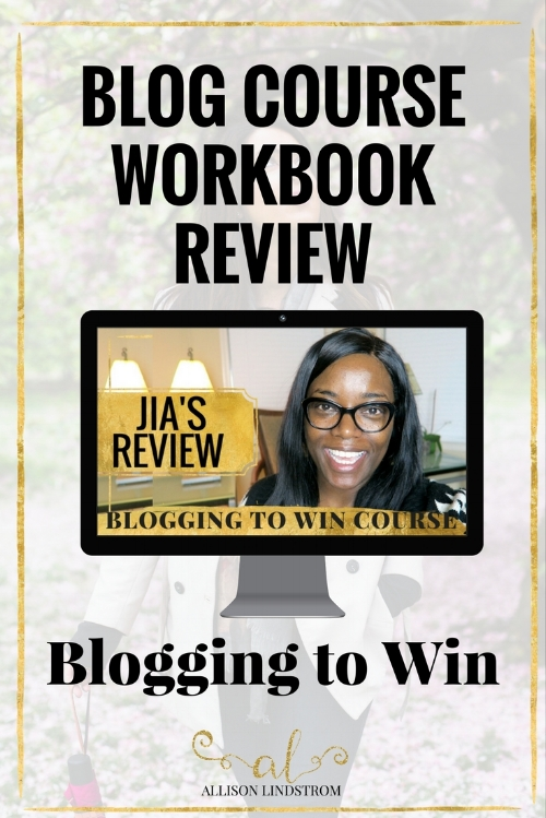 JOIN THE BLOGGING TO WIN COURSE HERE! http://allisonlindstrom.com/bloggingtowin || Blogging to Win is an online course about building a blogging business (not a hobby) with all of the modern strategies bloggers are using today. Jia from Marriage & Motherhood talks about how the blog workbook (which is just a portion of the blog course) gave her a one stop source to organize her blogging business. || BLOGGING TO WIN | BLOG COURSE WORKBOOK REVIEW | JIA
