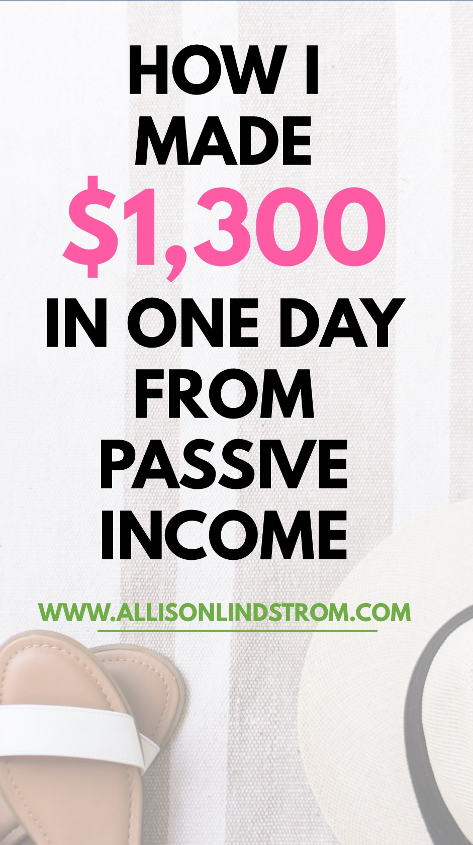 Looking for some passive income ideas or how to earn money online? I made $1,300 in ONE DAY while I was moving my family into our new home. It was the very definition of passive income and it felt great! Here's how I worked my butt off to accomplish it and how I think YOU can replicate the process.