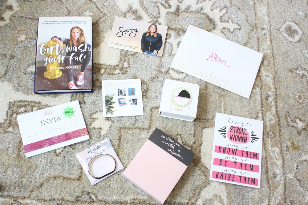 Sparkle Hustle Grow is an online community and subscription box for female entrepreneurs, and they sent me a free box to try out their product! I love watching unboxing videos so I'm sharing mine too so you can see my honest-to-goodness genuine reaction to all the items. - Allison Lindstrom
