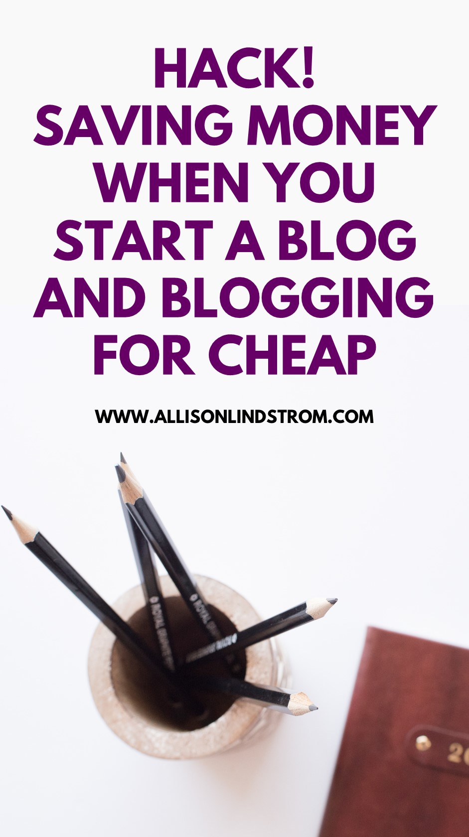 HACK! SAVING MONEY WHEN YOU START A BLOG ● BLOGGING FOR CHEAP--Looking for ways to save money as a new blogger? If there's one thing I'm a fan of, it's blogging for cheap…or as cheap as you possibly can when starting a blogging business! Here's a nifty hack for saving money on your blog expenses! ● HACK! SAVING MONEY WHEN YOU START A BLOG ● BLOGGING FOR CHEAP