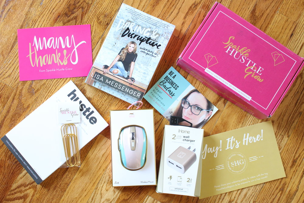 Sparkle Hustle Grow is an online community and subscription box for female entrepreneurs, and they sent me another free box to try out their product! I love watching unboxing videos so I'm sharing mine too so you can see my honest-to-goodness genuine reaction to all the items. Annnd they've me a coupon code for you guys so be sure to get the description box below the video for $5 off!