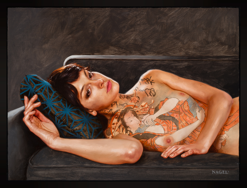 "Tattoo Series - ""Reclining with Teraoka"","