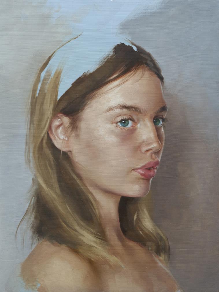 """portrait study, """"Staz"""""""