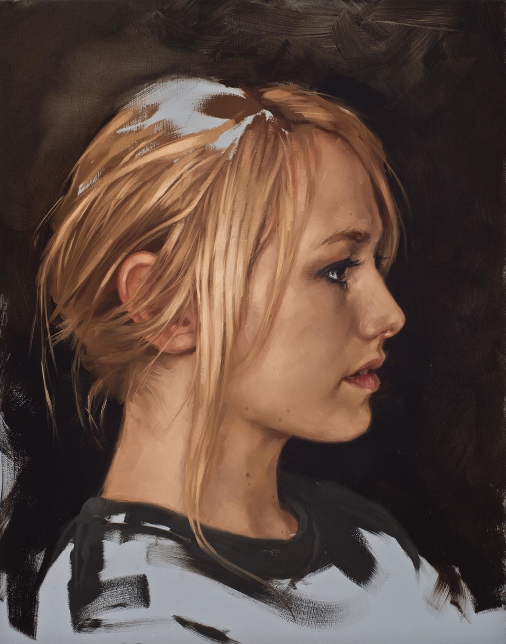 """portrait study, """"GN"""""""