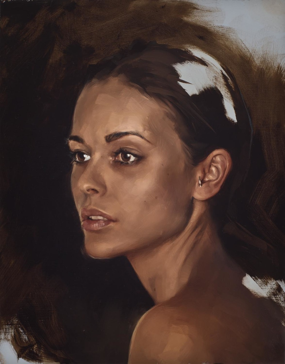 "portrait study, ""Rosie"""