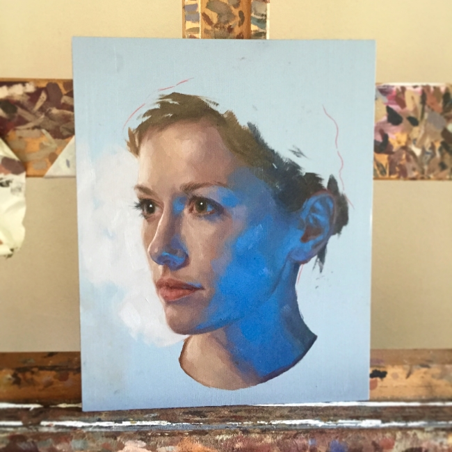 end of the first sitting on this portrait of GN