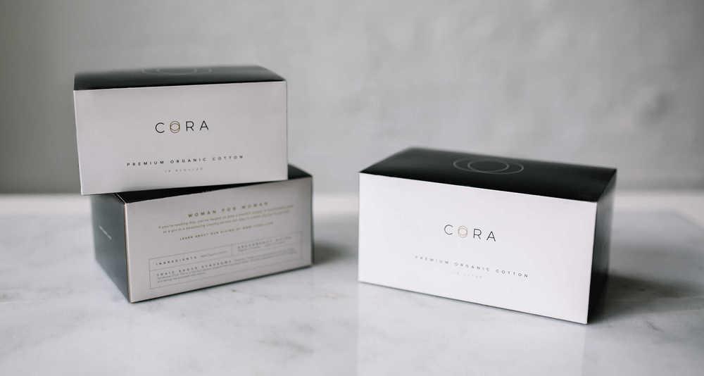 Cora Organic Tampon Box - Lifestyle