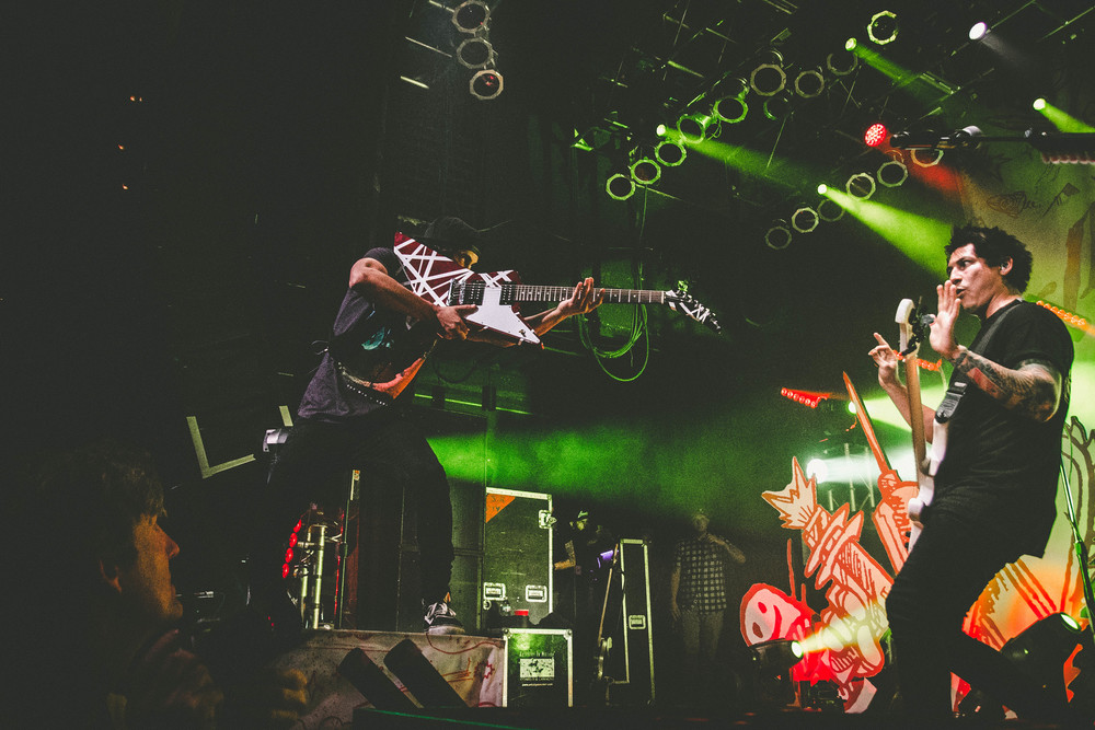 Vic Fuentes and Jaime Preciado of Pierce the Veil by Chelsea Gresh