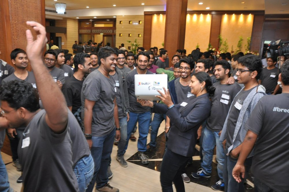 Neha with India team.jpg