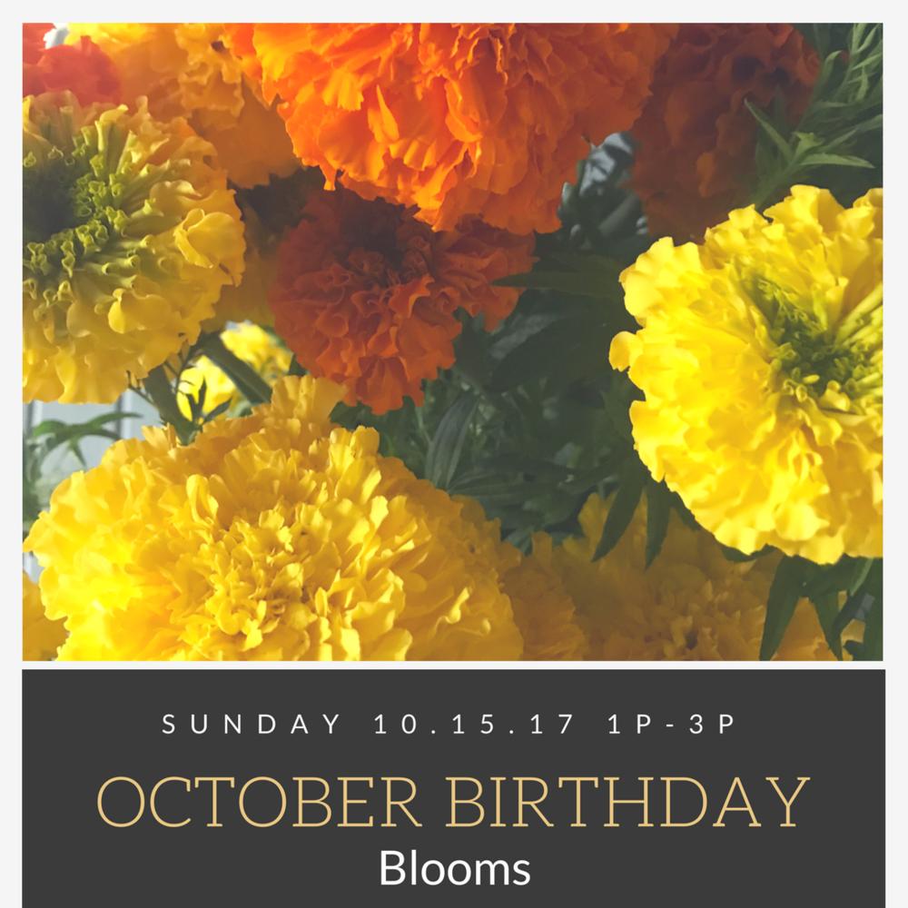 October Birthday Blooms Lush Lovely