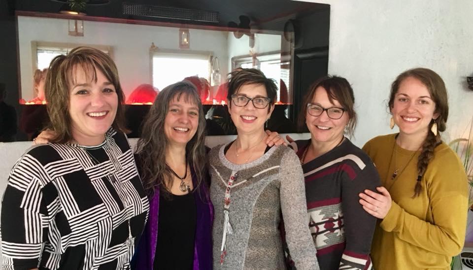 2017 yoga teacher training graduates! Amy, Ann, dori, angela and kathy