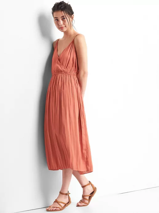 Cami Pleated Midi-Dress | GAP