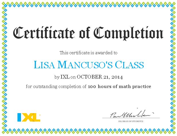 ixl-math-certificate