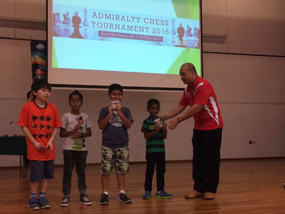 Vikrant Harihara places 1st in the Admiralty Chess Tournament held in Singapore - 2016