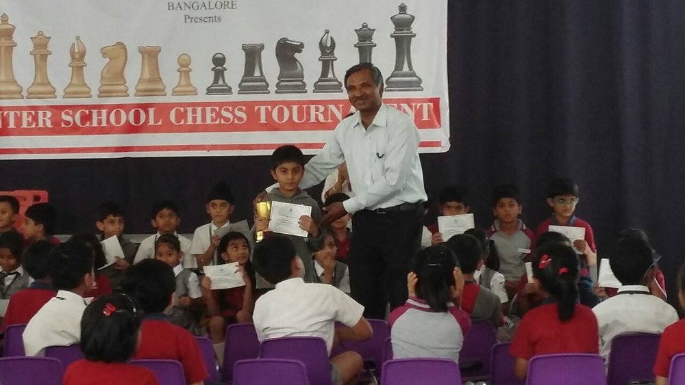 Himaneesh Sompalle places 1st in the Interschool Chess Tournament - 2017