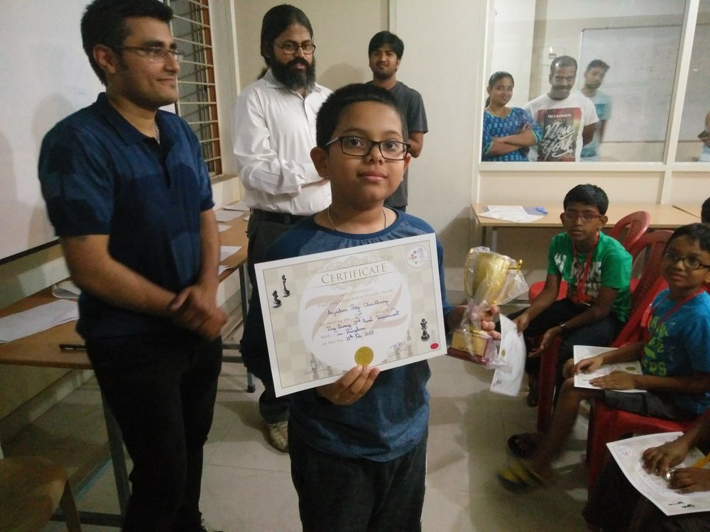 Anjishnu Roy places 1st in Quad 1 of the ZugZwang Monthly Tournament of February - 2017