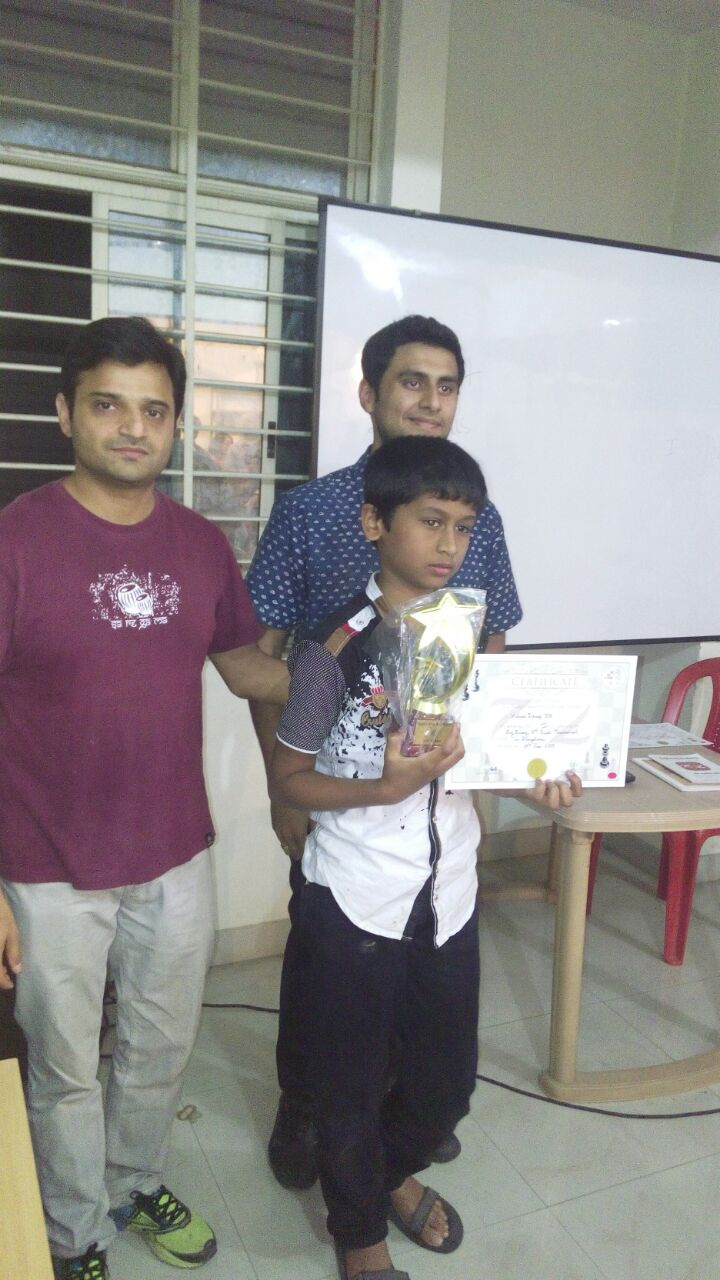 Vishwa Dheep places 1st in Quad 1 of the ZugZwang Monthly Tournament of January - 2017