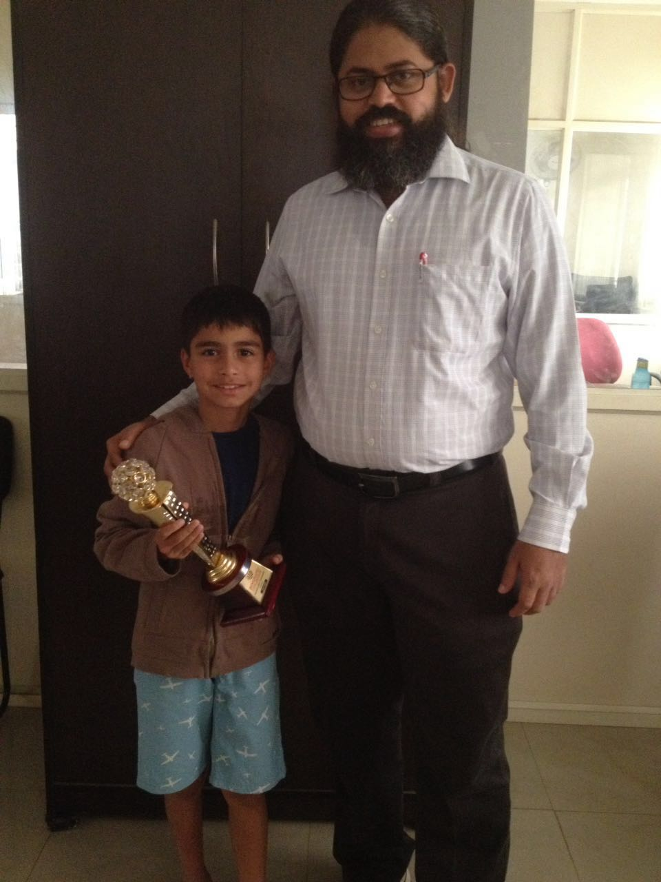Nirukth places 3rd in the Bengaluru Chess Center Children's Chess Tournament (U-9 Boys) - 2016