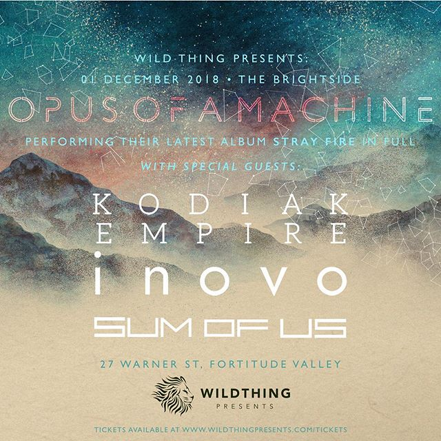 Just over a week until we hit the stage with @opusofamachine @inovo_band and @sumofusband - presales are available for a cheaper price so get in contact.