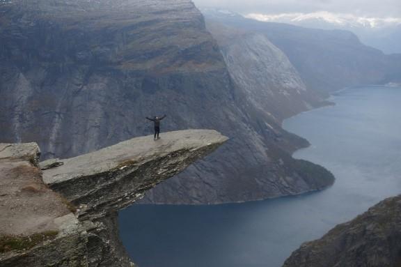 Me on Trolltunga, Norway