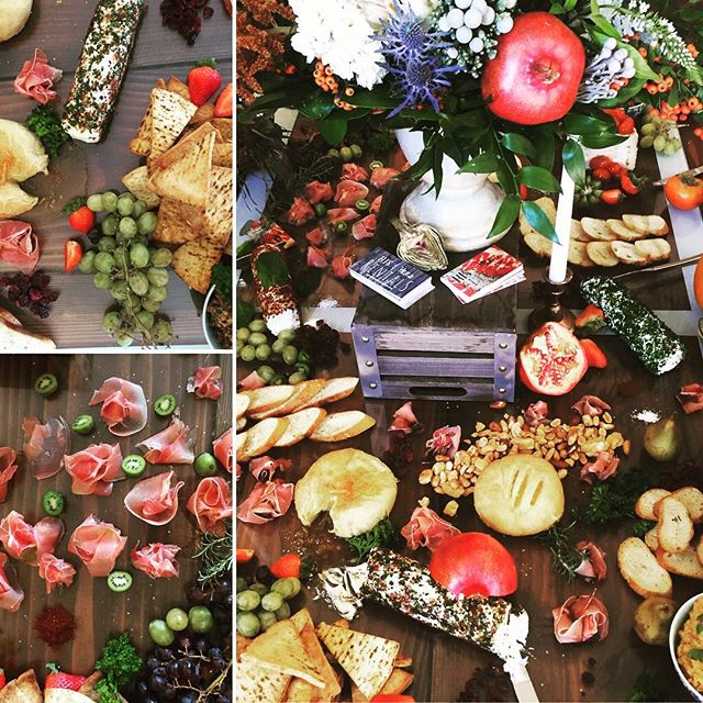 Our latest events Seasonal Spread #lovefood #fresh #cheese #meats #bread #pomegranate #spread #food #art #kiwi #amazing #wedding #catering #hisandherskitchen #farmersmarket
