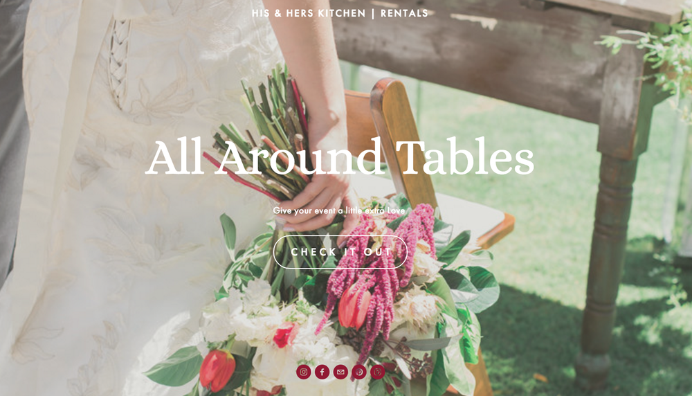 vintage tables for weddings