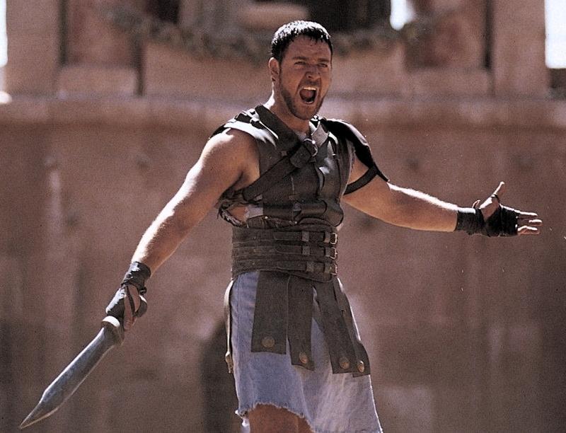 Maximus Decimus Meridius, looking like a standard bro.