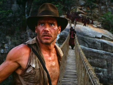 Indiana Jones, looking yoked at the film's climax.