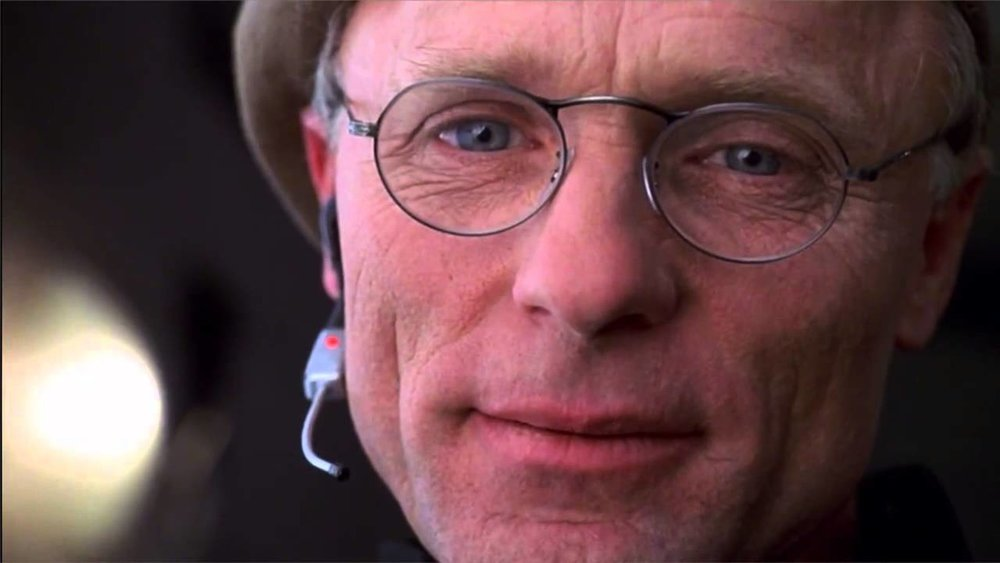 Christof (Ed Harris), a face of compassion.