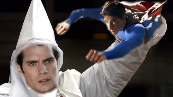 Superman vs. The KKK, a film adaptation of the 1946 radio drama, is in development. - We're not saying he is, but if Henry Cavill was a white supremacist, would the Studios recast Brandon Routh? #RootForRouth