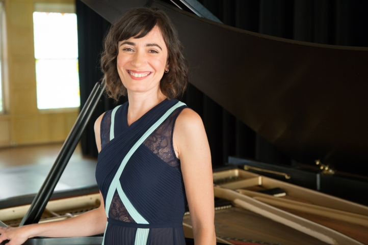 Pianist Cristina Valdés; photo by Monica Jane Frisell