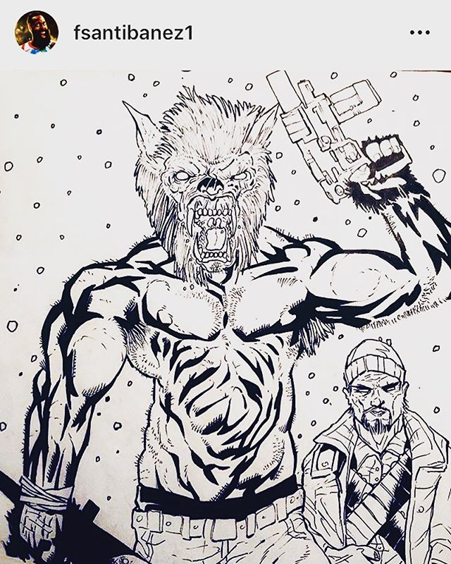 some very cool #MasksofChaos fan art by @fsantibanez1 🔪🐺
