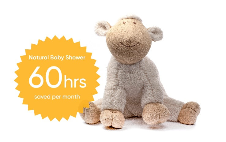 brightpearl retail accounting saves natural baby shower up to 60 hours per month