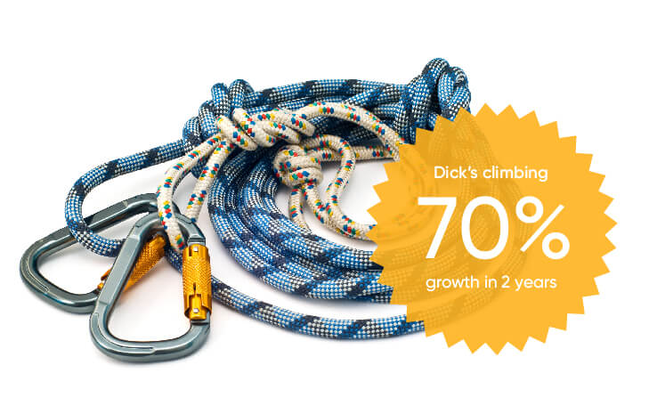 dicks climbing grew with brightpearl's shopify inventory software