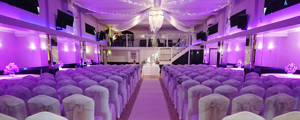 The Arlington Ballroom Purple-Themed Wedding