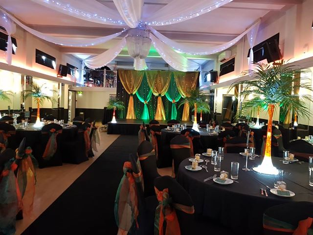 Mehndi Celebration Decorations at The Arlington Ballroom in Essex