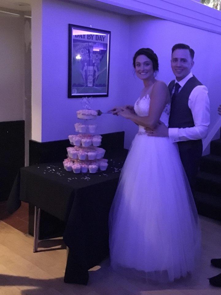 Cutting the Cake at The Arlington Ballroom Wedding, Essex
