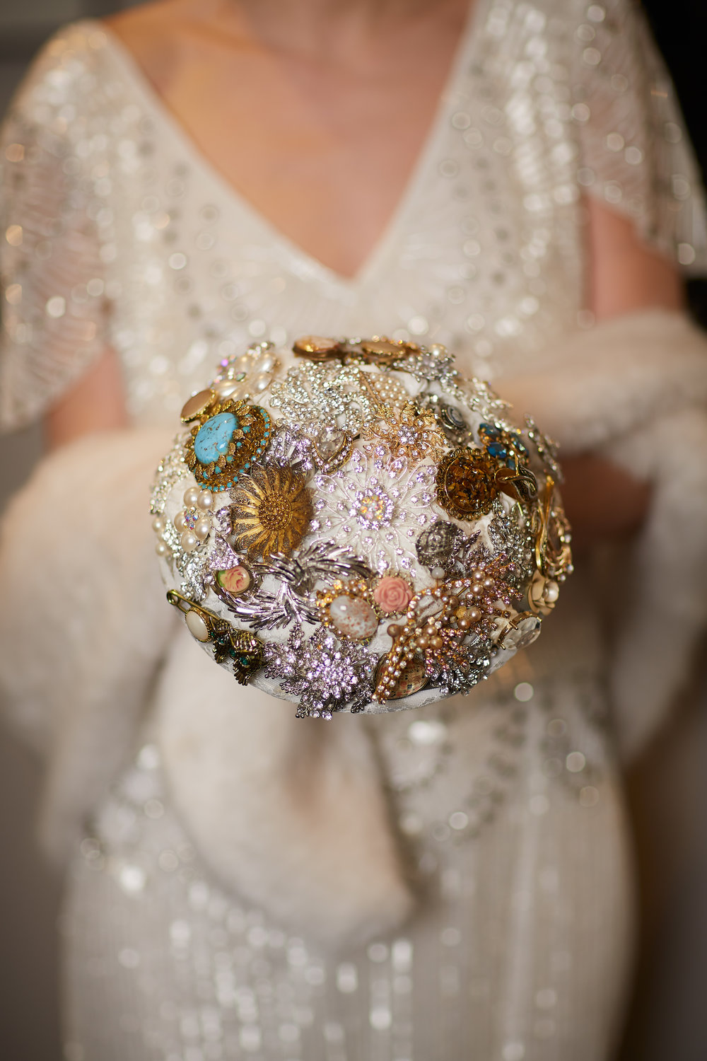 Brooch bouquets were very popular in the 1920s! This was made by London's  Blue Dove Weddings and Events .