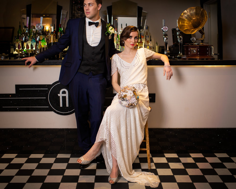 1920s Art Deco Wedding Inspiration at The ArlingtonBallroom