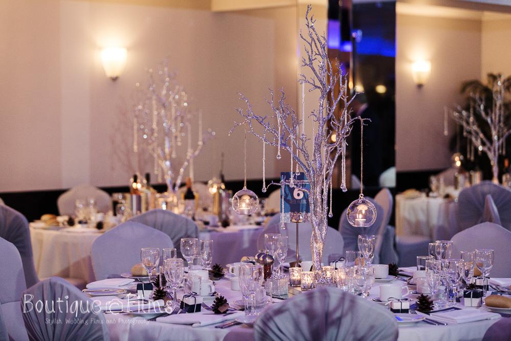 Jodie & Nicole Winter Wedding Table Decorations