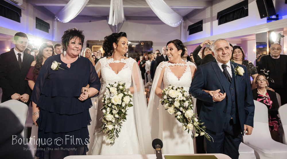Jodie and Nicole's wedding, December 2018.  Photograph by Boutique Wedding Films & Photography.