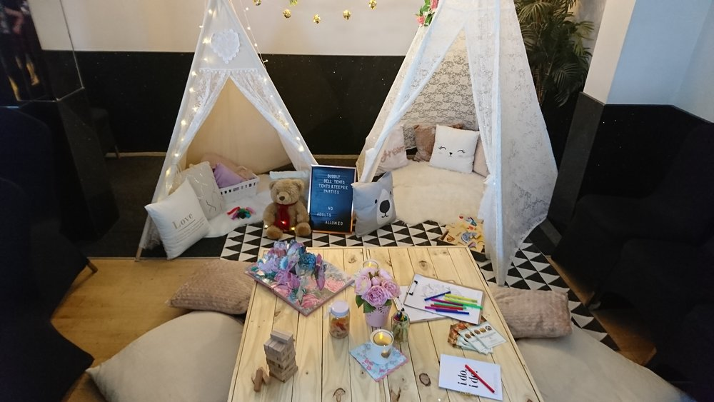 Children's Tepee at a Wedding in Southend