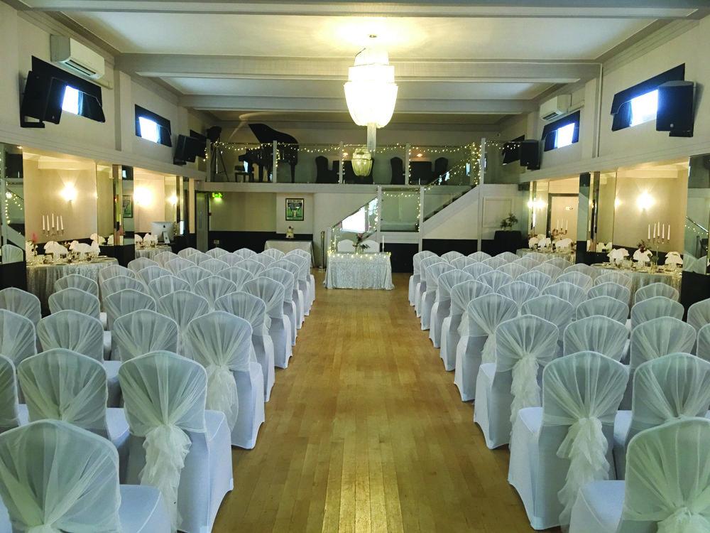 White Wedding Ceremony at The Arlington Ballroom Essex
