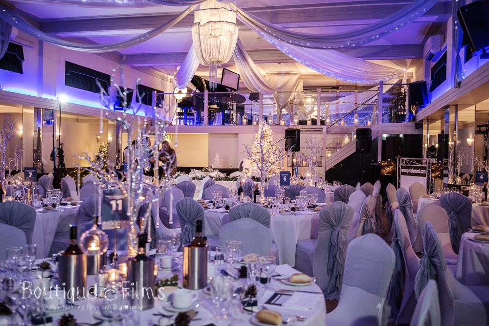 Jodie and Nicole Winter Wedding Reception at The Arlington Ballroom Essex