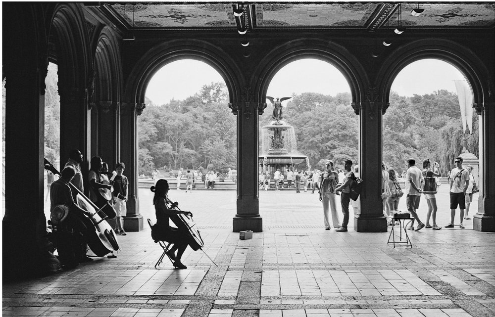 Street Pictures Series by Insiya Dhatt: Central Park Bethesda Terrace