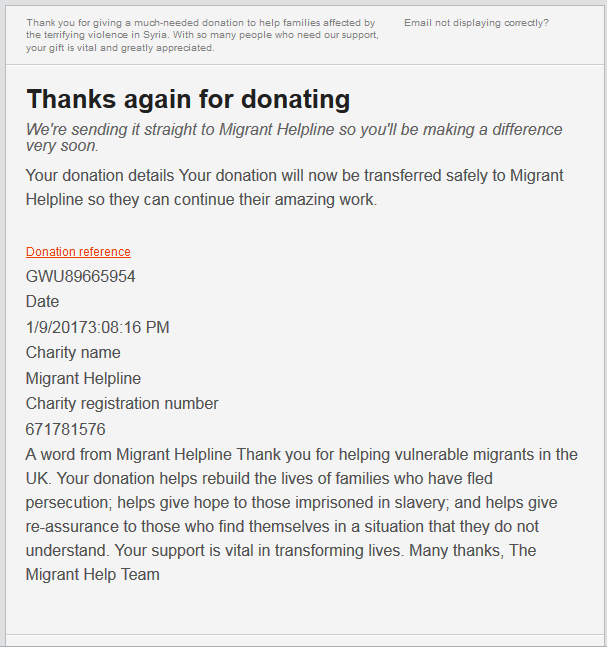 Fake Charity Donations