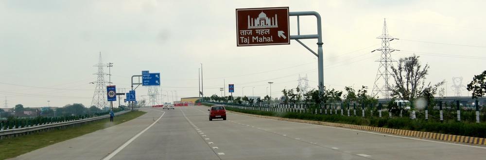 Die Autobahn nach Agra