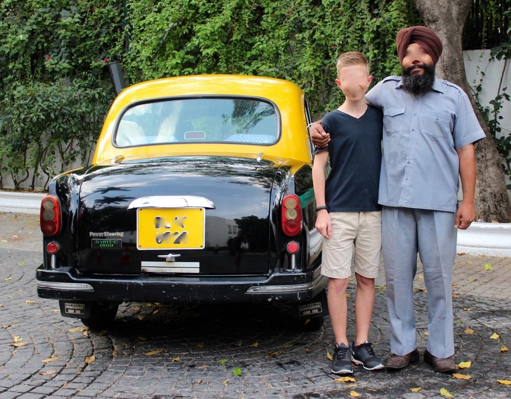 Mein Sohn und unser Taxifahrer